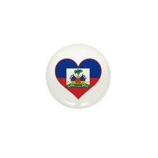 Haiti Flag Heart Mini Button (10 pack)