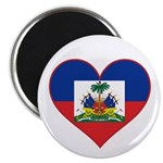 Haiti Flag Heart Magnet