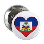 Haiti Flag Heart Button