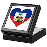 Haiti Flag Heart Keepsake Box