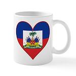 Haiti Flag Heart Mug