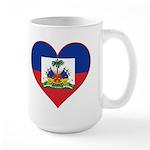 Haiti Flag Heart Large Mug