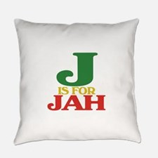 J is for Jah.png Everyday Pillow