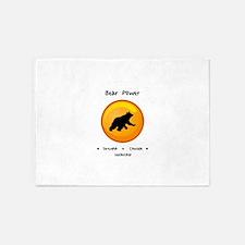 Circle Bear Totem Power Gifts 5'x7'Area Rug