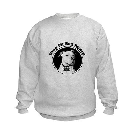 Stop Pitbull Abuse Kids Sweatshirt