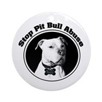Stop Pitbull Abuse Ornament (Round)