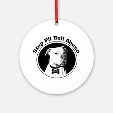 Stop Pitbull Abuse Ornament (Round)