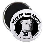 "Stop Pitbull Abuse 2.25"" Magnet (10 pack)"