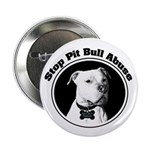 "Stop Pitbull Abuse 2.25"" Button (100 pack)"