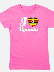 Unique I love uganda Girl's Tee