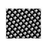 Skull and crossbones Fleece Blankets