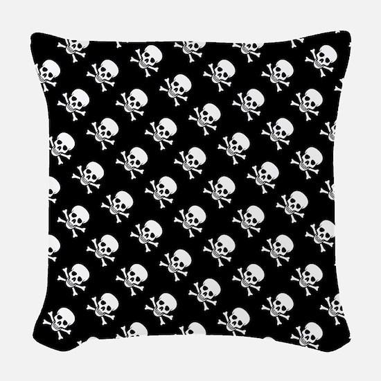 Skull n Crossbones Woven Throw Pillow