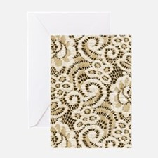 western country floral lace Greeting Cards