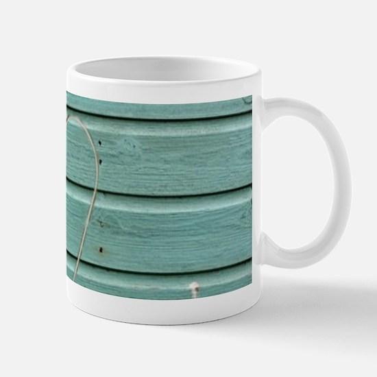 turquoise barn wood lavender Mugs