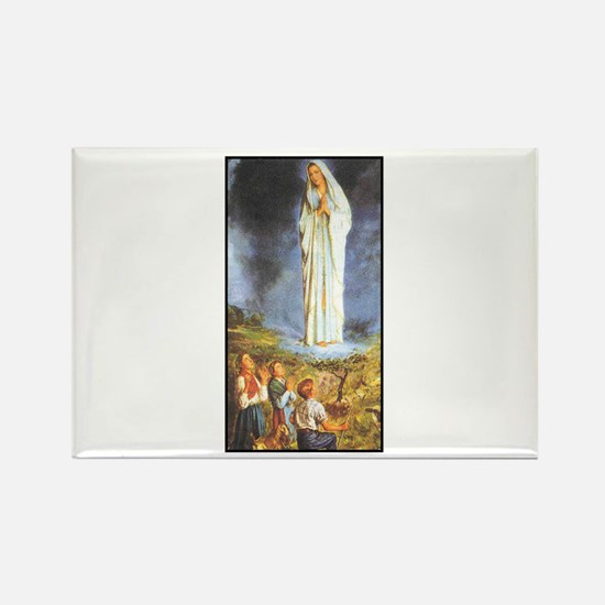 Our Lady of the Rosary - Fati Rectangle Magnet