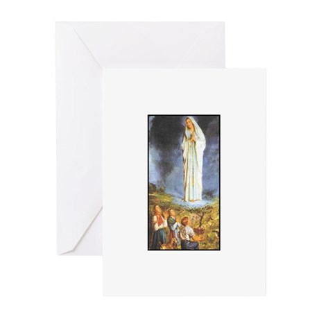 Our Lady of the Rosary - Fati Greeting Cards (Pk o
