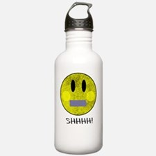 SMILEY FACE SHHHH Water Bottle
