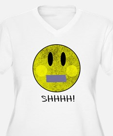 SMILEY FACE SHHHH T-Shirt