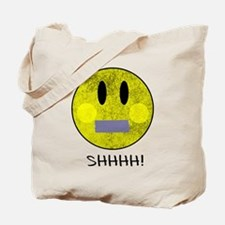 SMILEY FACE SHHHH Tote Bag