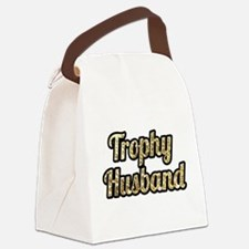 Trophy Husband Gold Glitter Canvas Lunch Bag
