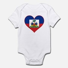 Haiti Flag Heart Infant Bodysuit