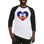 Haiti Flag Heart Baseball Jersey