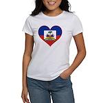 Haiti Flag Heart Women's T-Shirt