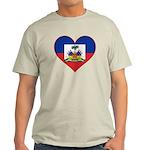 Haiti Flag Heart Light T-Shirt