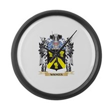 Wickes Coat of Arms - Family Cres Large Wall Clock