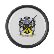 Wick Coat of Arms - Family Crest Large Wall Clock
