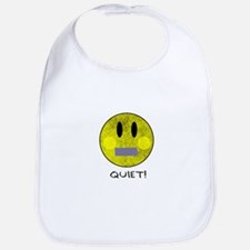 SMILEY FACE QUIET Bib
