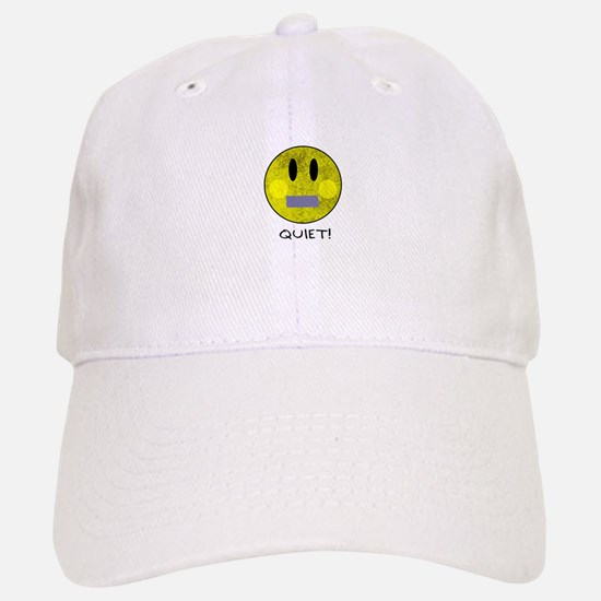 SMILEY FACE QUIET Baseball Baseball Cap