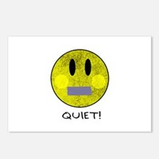 SMILEY FACE QUIET Postcards (Package of 8)