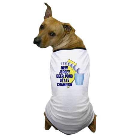 New Jersey Beer Pong State Ch Dog T-Shirt