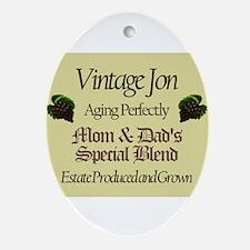 Vintage Jon Oval Ornament