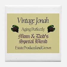 Vintage Jonah Tile Coaster