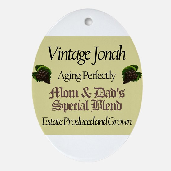 Vintage Jonah Oval Ornament