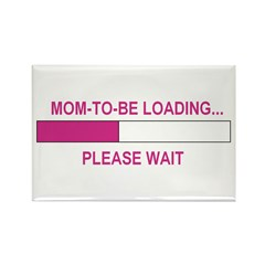 MOM-TO-BE LOADING Rectangle Magnet (100 pack)