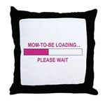 MOM-TO-BE LOADING Throw Pillow