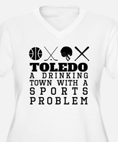 Toledo Drinking Town Sports Problem Plus Size T-Sh