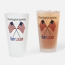 Cute Proud american Drinking Glass