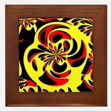 Red yellow and black Framed Tile