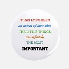 "Sherlock Holmes Quote on Th 3.5"" Button (100 pack)"