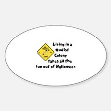 HALLOWEEN - LIVING IN A NUDIST COLO Decal