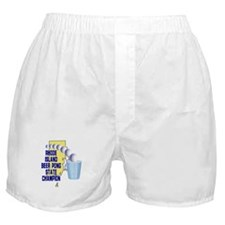Rhode Island Beer pong State Boxer Shorts