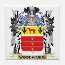 Woodwards Coat of Arms - Family Crest Tile Coaster