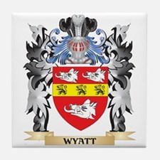 Wyatt Coat of Arms - Family Crest Tile Coaster