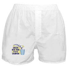 Oregon Beer Pong State Champi Boxer Shorts