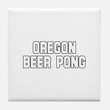 Oregon Beer Pong Tile Coaster