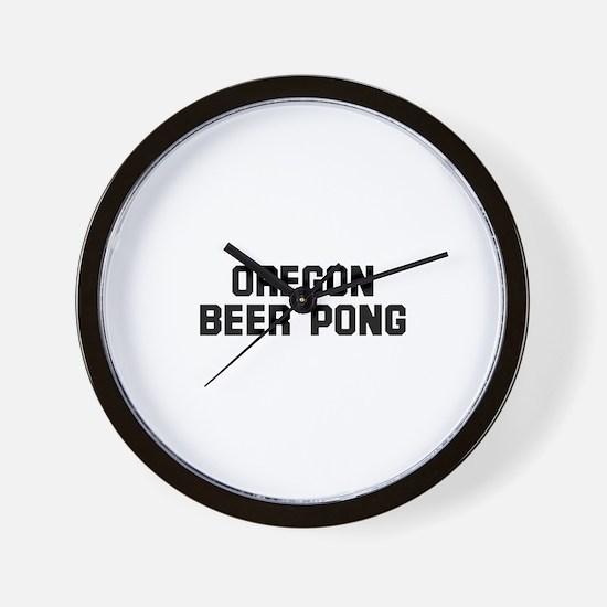 Oregon beer Pong Wall Clock